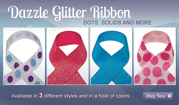 wholesale glitter ribbon
